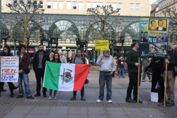 Protestkundgebung vor dem Hamburger Rathaus