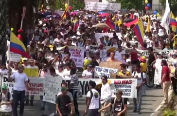 Demonstration in Cali am vergangenen Sonntag