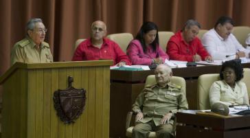 Raúl Castro bei seiner Ansprache am 29. Dezember