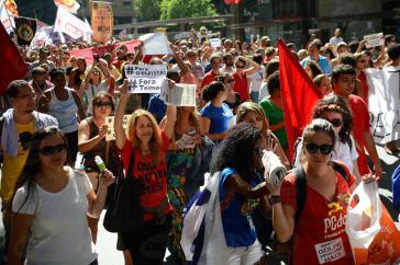 Demonstration am Samstag in Rio de Janeiro