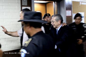 Ríos Montt bei einem seiner letzten persönlichen Termine vor Gericht im Mai 2013