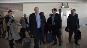 Kubas Minister für Außenhandel und Ausländische Investitionen, Rodrigo Malmierca, mit seiner Delegation bei der Ankunft am Sonntag in Washington