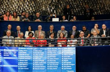 Unter den Zuhörern aus den Reihen der Arbeiterpartei PT:  Ex-Präsident Luiz Inácio Lula da Silva