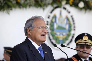 Kündigte harte Maßnahmen gegen die Bandenkriminalität an:  Präsident Salvador Sánchez Cerén