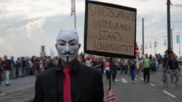 Demonstrant in Köln
