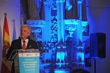 Uruguay Präsident Vazquez stellte im Spanischen Galizien vor Unternehmern die Infrastrukturprojekte seiner Regierung vor