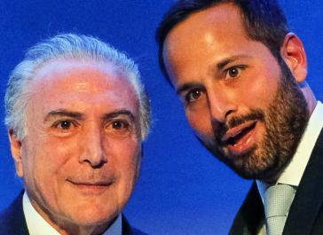 De-facto-Präsident Temer (li.) und sein Ex-Kulturminister Calero (re.)