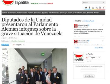 Bericht des venezolanischen Online-Portals La Patilla über den Besuch (Screenshot)