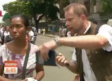 ... sah ARD-Korrespondent Peter Sonnenberg nichts