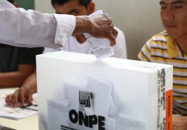 Bei den diesjährigen Präsidentschaftswahlen in Peru entscheidet jede Stimme