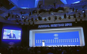 US-Außenminister John Kerry während seiner Ansprache beim Weltwirtschaftsforum in Davos