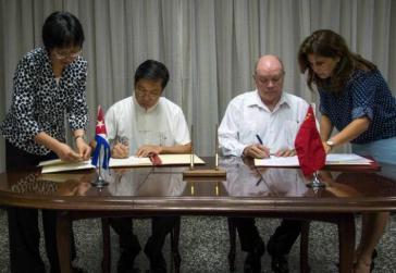 China-Kuba: Unterzeichnung der Abkommen