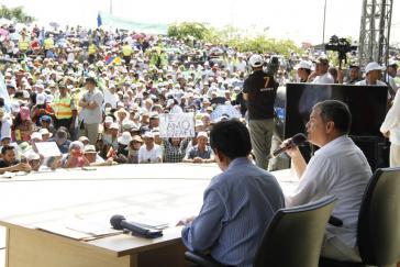 """Rafael Correa verabschiedete sich am Samstag mit einer letzten Ausgabe seiner Fernsehsendung """"Enlace Ciudadano"""""""