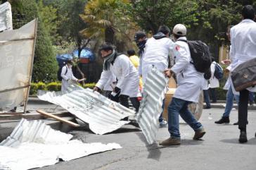 Protest von Medizinern in La Paz,  Bolivien