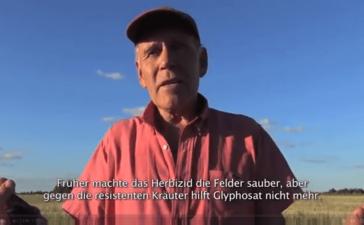 """""""Nicht für die Investmentfonds, aber für die Landwirte vor Ort und für die Verbraucher ... ist das Modell Monsanto gescheitert"""" (Screenshot)"""