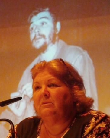 Dr. Aleida Guevara March bei einer von sieben Veranstaltungen im September in der Schweiz