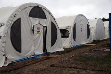 Zelte für US-Militärs, die am Militärmanöver im Amazonasgebiet in Brasilien teilnehmen