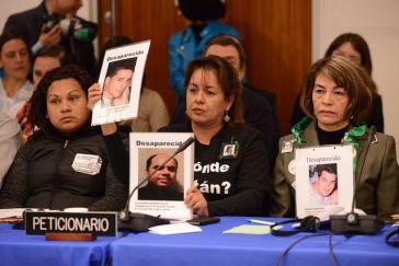 Ihnen gilt besondere Anerkennung im Kampf gegen die Gewalt in Mexiko: Angehörige Verschwundener