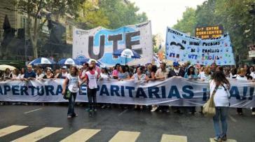Lehrer streiken und protestieren in Buenos Aires