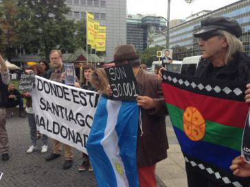 Auch in Berlin gab es Proteste unweit der Botschaft von Argentinien