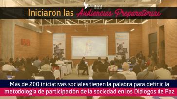 Beginn der Beteiligung der Bevölkerung an den Friedensgesprächen der ELN