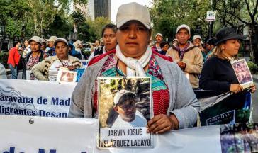 """Jedes Jahr machen sich Angehörige verschwundener Migrantinnen und Migranten mit einer """"Karawane"""" durch Mexiko auf die Suche nach nach Spuren der Vermissten"""
