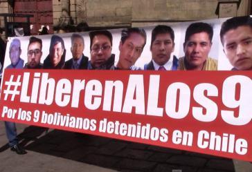 In Bolivien findet eine Kampagne für die Freilassung der neun Grenzbeamten statt