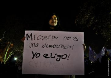 """""""Mein Körper ist keine Demokratie: Hier bestimme ich"""" – Protest in Chile 2014"""