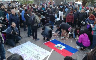 Gedenken an die 29-jährige Joane F. in Santiago de Chile