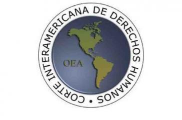 Logo des 1979 gegründeten Interamerikanischen Menschenrechtsgerichtshofs der OAS mit Sitz in San José, Costa Rica