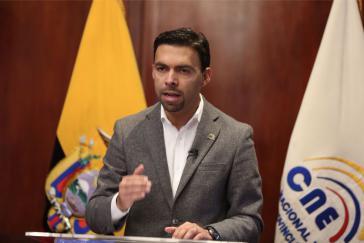 Der Vorsitzende des Nationalen Wahlrats von Ecuador (CNE), Juan Pablo Pozo