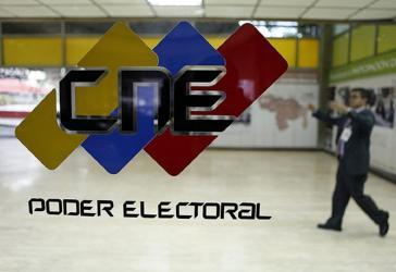 Logo der Wahlbehörde CNE in Venezuela: Sie richtet auch die  Regionalwahlen aus