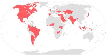 Länder, die von den Paradise Papers-Enthüllungen betroffen sind - darunter auch Argentinien, Brasilien und Kolumbien