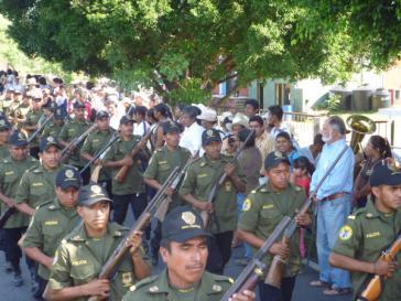Gemeindepolizei in Mexiko