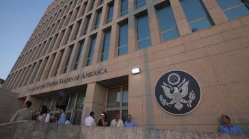 US-Botschaft in Havanna, Kuba. Nach dem Willen der Trump-Regierung soll es hier keine Visa mehr geben.