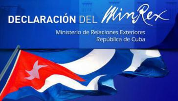 In einer öffentlichen Stellungnahme erklärte das kubanische Außenministerium die Einreise-Verweigerung