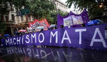 "Demonstration gegen Gewalt gegen Frauen in Mexiko-Stadt: ""Machismus tötet"""