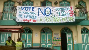 Gegner des Bergbaus in Pijao mobilisieren für die Abstimmung am vergangenen Sonntag