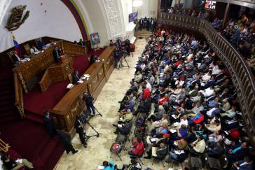 Die verfassunggebende Versammlung in Venezuela bei der Debatte am Donnerstag