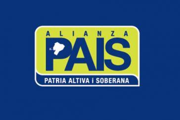 Logo der Alianza País. Die Regierungspartei von Ecuador steht vor der Spaltung