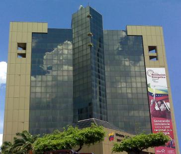 Sitz der Erdölgesellschaft von Venezuela, PdVSA, die von den Nationalisierungen