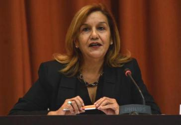 Kubas Ministerin für Wissenschaft, Technologie und Umwelt (CITMA), Elba Rosa Pérez Montoya