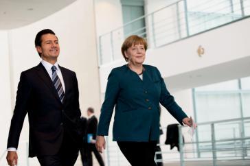 """""""Deutschland war immer ein strategischer Partner für Mexiko"""". - Mexikos Präsident Enrique Peña Nieto mit Bundeskanzlerin Angela Merkel bei seinem Staatsbesuch in Deutschland im Mai 2016"""