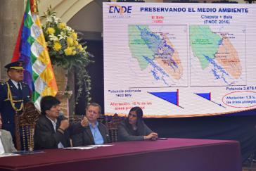 Am 27. Juli 2016 unterzeichneten Boliviens Präsident Evo Morales und die italienische Firma Geodata das Abkommen zur Durchführung einer Studie für den geplanten Stausee