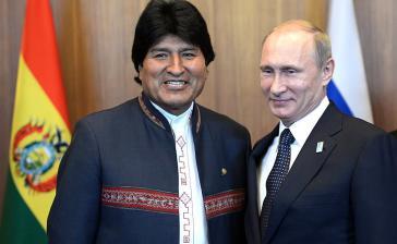 Präsidenten Evo Morales (Bolivien) und Wladimir Putin (Russland)