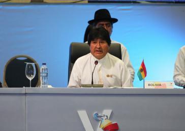 Boliviens Präsident Evo Morales beim 5. Celac-Gipfeltreffen