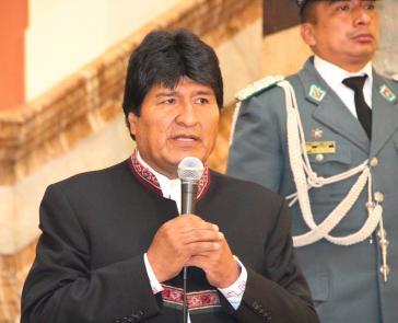 Der Präsident von Bolivien, Evo Morales, bei seiner Stellungnahme am 29. November zum Urteil des Verfassungsgerichts