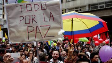 """""""Alles für den Frieden"""" – Kundgebung in Kolumbien"""