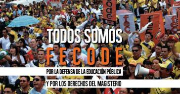 """Der """"Verband der Erziehungsarbeiter"""" in Kolumbien organisiert den Streik"""