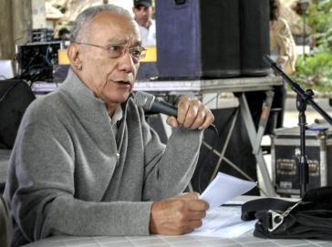 Fernando Martínez Heredia bei seinem Vortrag im Januar 2017 in Havanna, Kuba